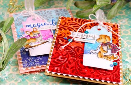Winter Dog Birthday Cards