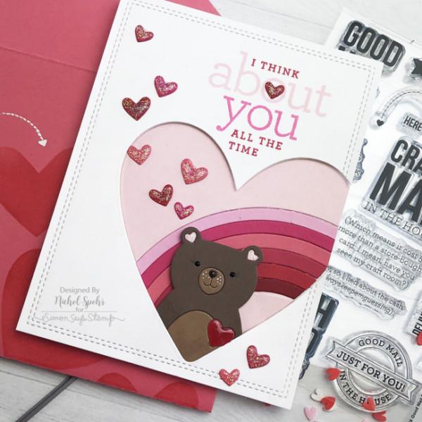 Rainbow Bear Valentine's Day Card
