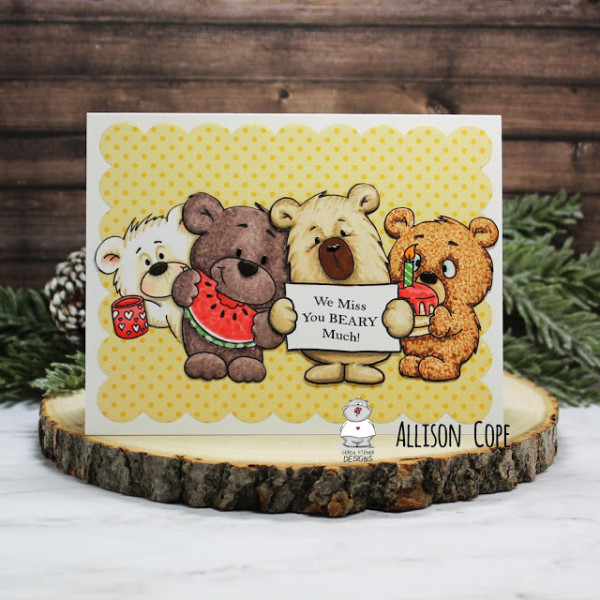 Miss You Bears Card