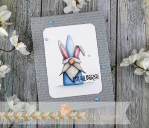 Gnome Bunny Easter Card