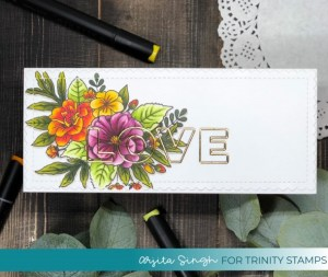Gold Inlaid Sentiment Card