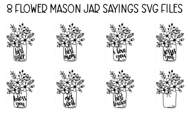 Mason Jar Digital Stamps