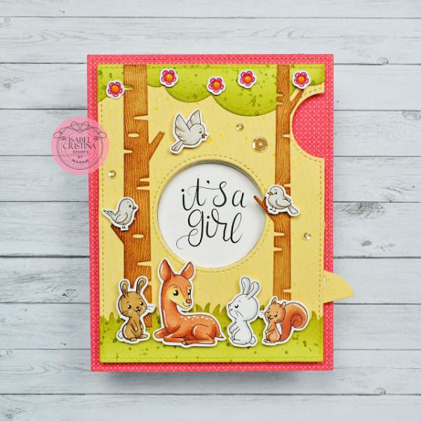 Woodland Baby Card