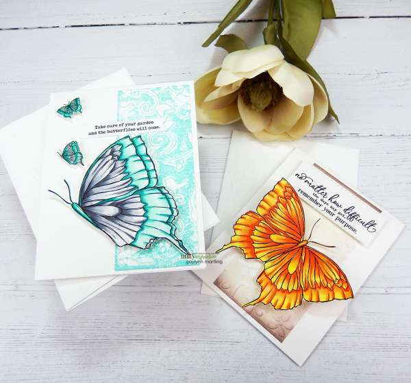 Dry Embossing with Ink Card Backgrounds
