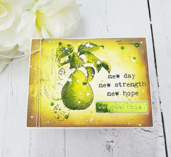 Mixed Media Encouragement Card