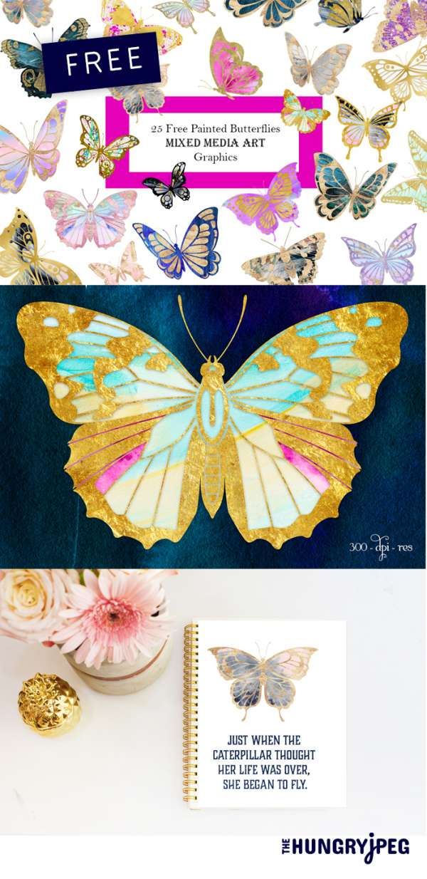 Butterfly Clipart Freebies