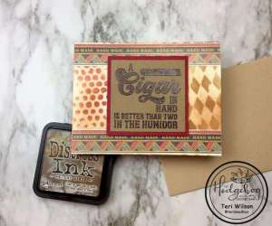Cigar Box Themed Card