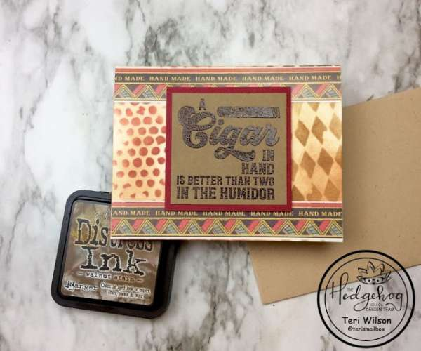 Cigar Box Themed Card