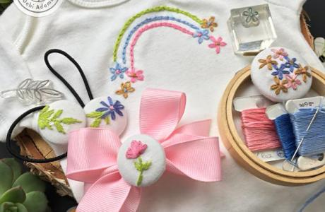 Using Stamps for Embroidery
