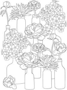 6 Floral Coloring Pages