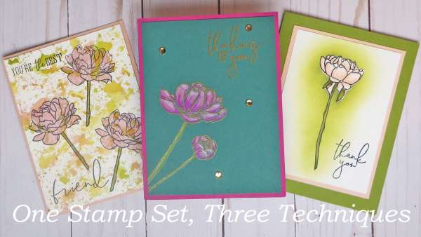 Three Card Techniques using One Stamp Set