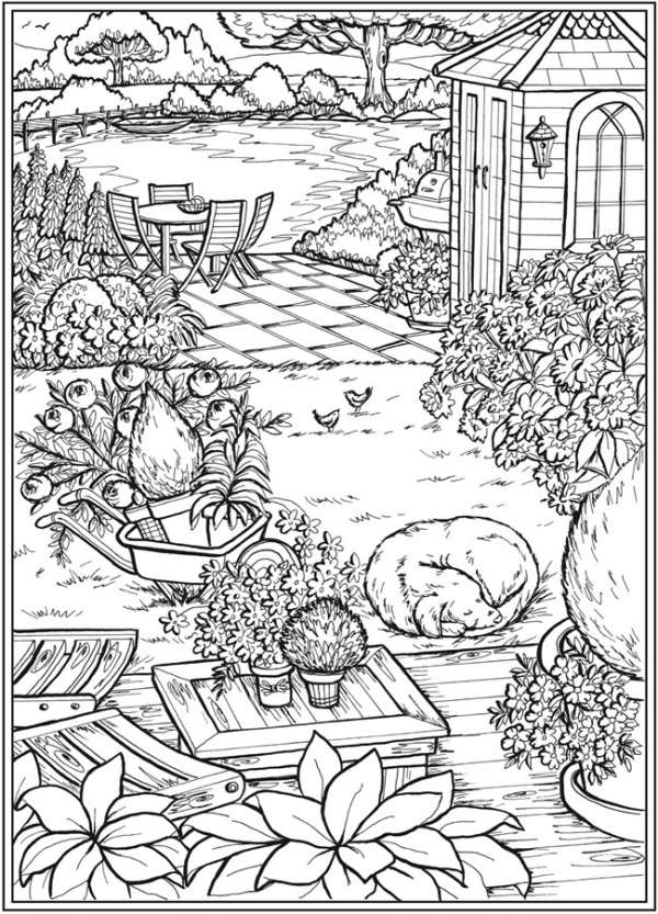 6 Country Garden Coloring Pages