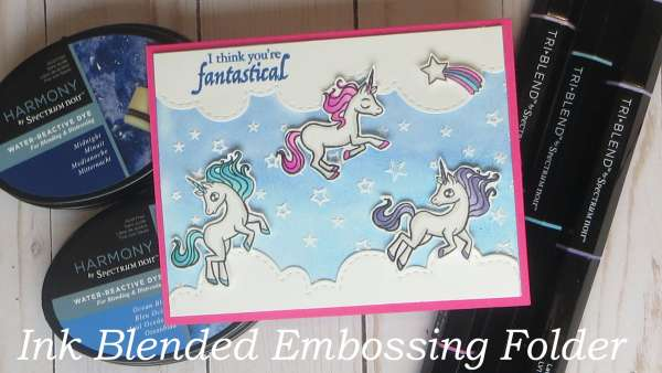 How to Ink Blend on an Embossing Folder