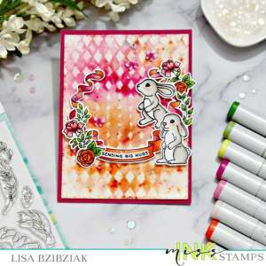 Watercolor Powder Resist Card Background