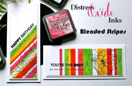 Distress Oxide Striped Cards