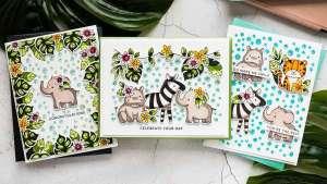 3 Jungle Animal Cards