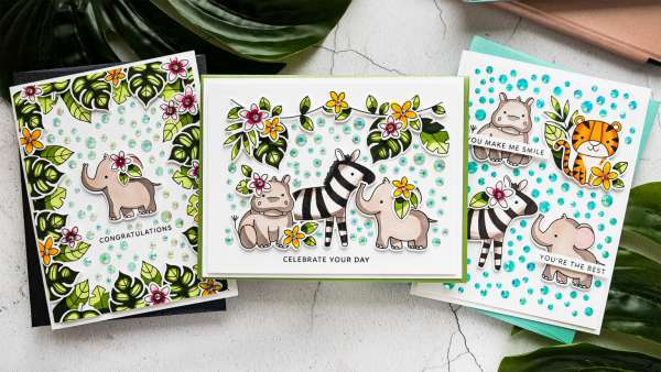 3 Jungle Animal Cards