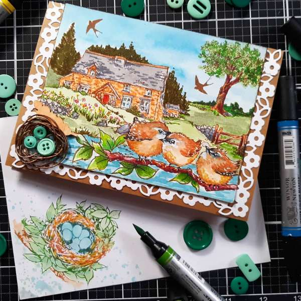 Cottage Scene Card