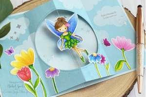 Interactive Fairy Spinner Card