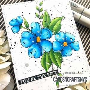 Flower Digital Stamp