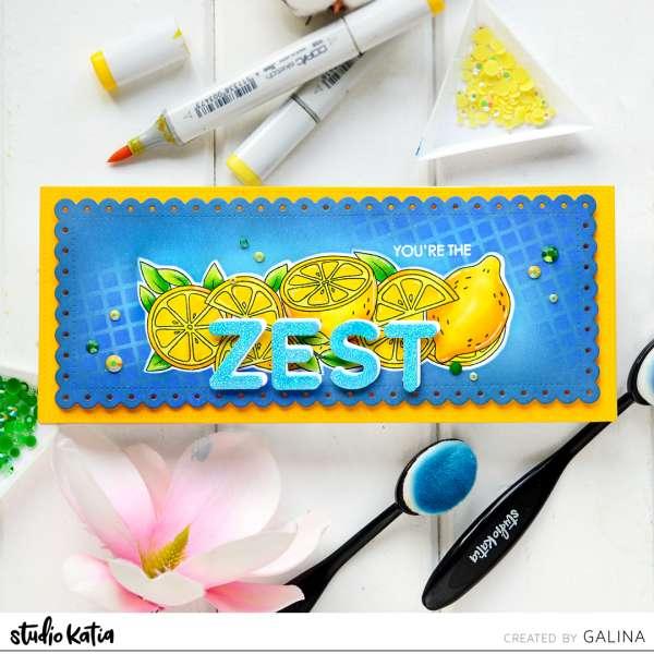 Zesty Lemon Slimline Card