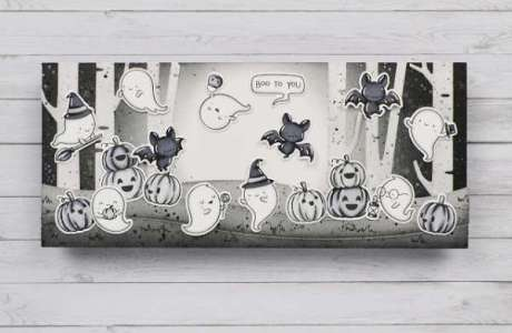 Black and White Halloween Card