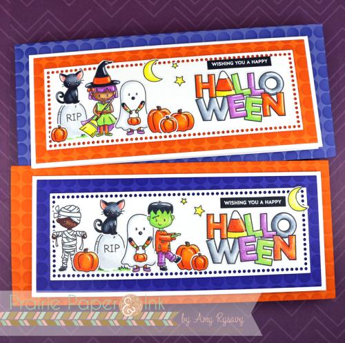 Slimline Halloween Cards