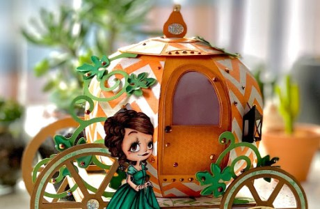 3D Paper Pumpkin Carriage