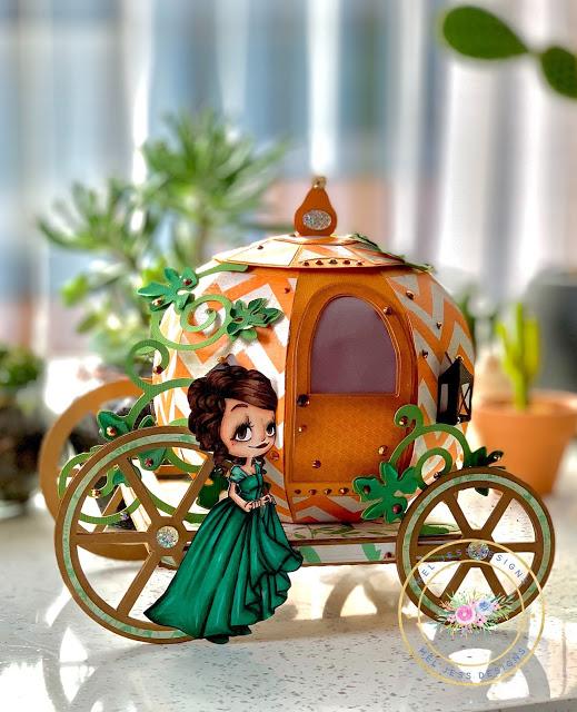 3D Paper Pumpkin Carriage