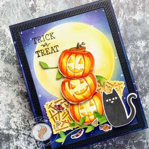 Stack of Pumpkins Halloween Card