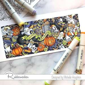 Halloween Copic Coloring Card