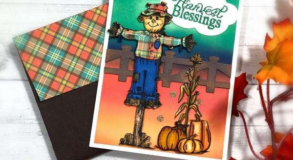Fall Scarecrow Card