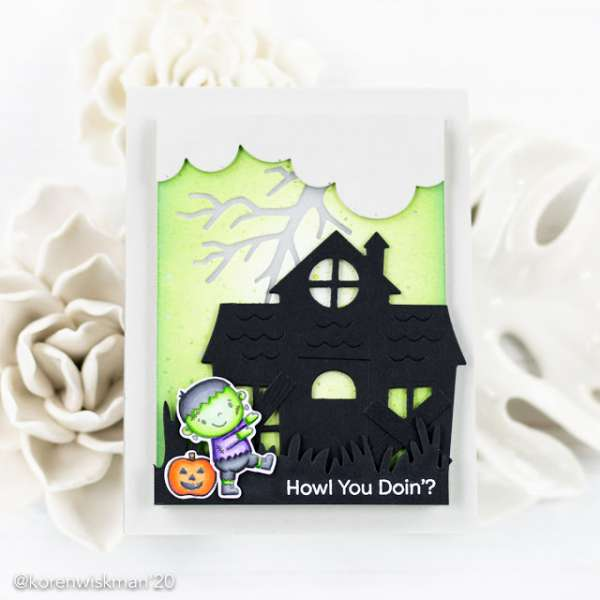 Light Up Halloween Card