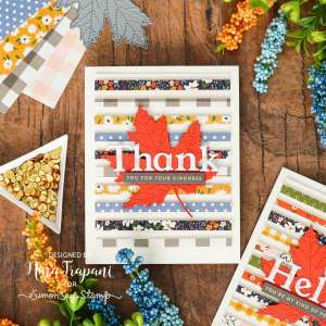 Paper Strips Autumn Card