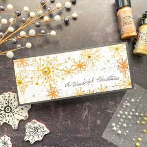 Stamping with Metallic Paint