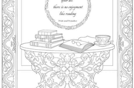 4 Jane Austen Coloring Pages