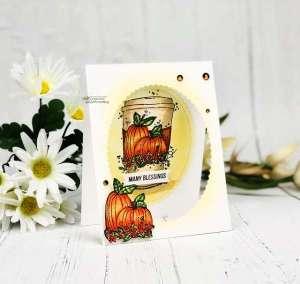 Autumn Coffee Cup Card