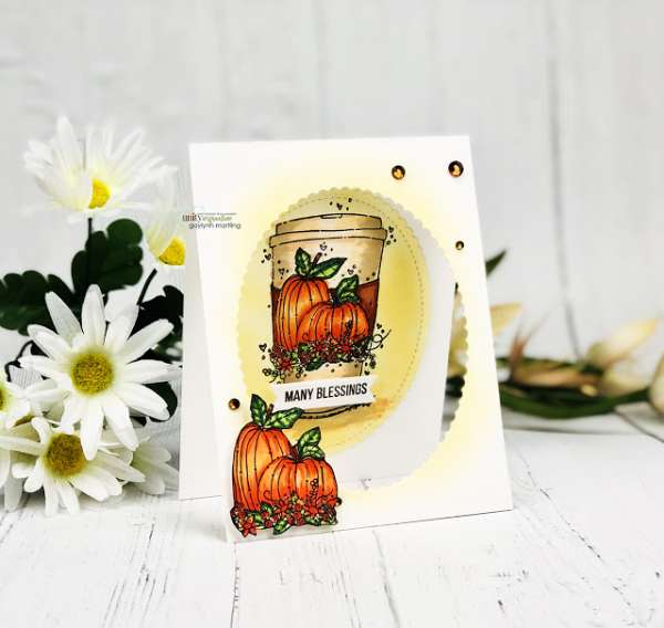 Autumn Coffee Cup Card