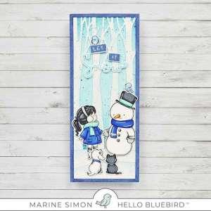 Slimline Snowman Card