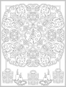6 Christmas Ornaments Coloring Pages