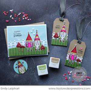 Gnome Birthday Card and Tags