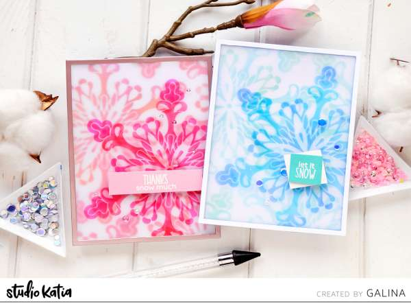 Layered Snowflake Cards