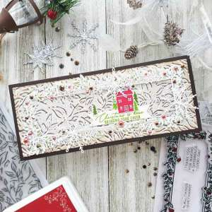 Christmas Card with Offset Stamping
