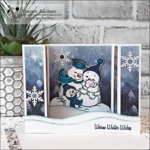 Snowman Bridge Card
