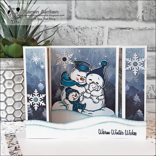 Snowman Bridge Card