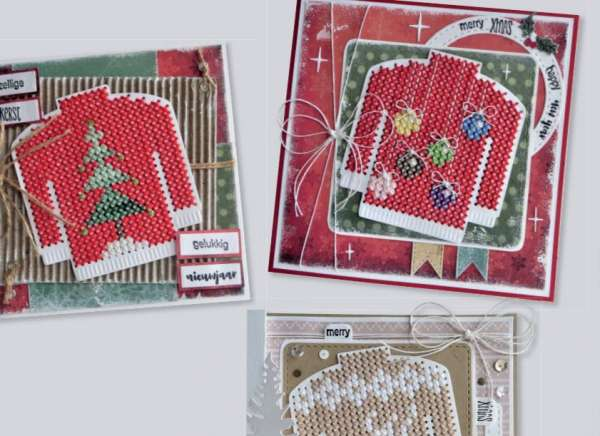 Cross Stitch Christmas Sweater Cards