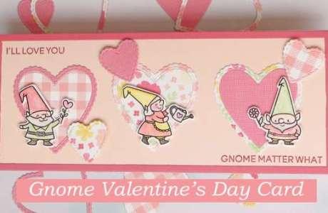 Gnome Valentine Slimline Card