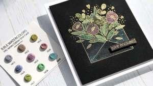 Glitter Watercolor Valentine Card