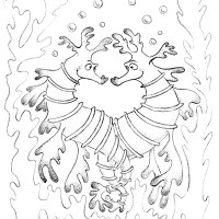 Seahorses Coloring Page