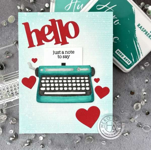 Interactive Typewriter Card